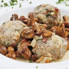 Les Croquettes, Cooking Classes, Dumplings, Gnocchi, Potato Salad, Stuffed Mushrooms, Paleo, Food And Drink, Chicken