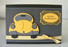 cute yellow bug card Stampin' Up Punch Art
