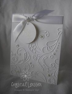CAS Elegant Wedding Shower by - Cards and Paper Crafts at Splitcoaststampers Confirmation Cards, Baptism Cards, Wedding Shower Cards, Wedding Cards, First Communion Cards, Engagement Cards, Wedding Anniversary Cards, Embossed Cards, Greeting Cards Handmade