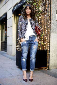 30 ideas chic para vestir con un atuendo de chaqueta de tweed este invierno Mode Outfits, Fall Outfits, Casual Outfits, Fashion Outfits, Fashion Story, Fashion Pants, Casual Wear, Fashion Ideas, Fashion Trends