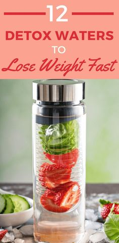 Wondering what ingredients to add to your detox water to lose weight gain energy clear skin body flush and cleanse metabolism boost and help you achieve flat belly and many other benefits? Includes detox water recipes with fat burning spices like gi Detox Water To Lose Weight, Detox Cleanse For Weight Loss, How To Lose Weight Fast, Cleanse Detox, Water Weight, Juice Cleanse, Diet Detox, Detox Diets, Stomach Cleanse