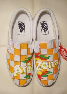 custom painted vans with Arizona Iced Tea Mango flavour