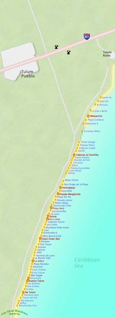 Map of Tulum and Tulum Hotels Map Mexico 2017, Cancun Mexico, Cozumel, Tulum Mexico Resorts, Oh The Places You'll Go, Places To Travel, Tulum Ruins, Holidays To Mexico, Quintana Roo