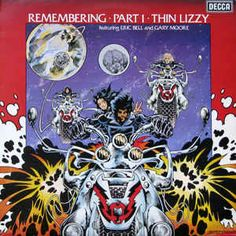 Thin Lizzy Featuring Eric Bell And Gary Moore - Remembering Part 1 at Discogs Thin Lizzy, Music Album Covers, Music Albums, Heavy Rock, Heavy Metal, Vinyl Cover, Cover Art, Gary Moore, Rock Cover