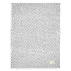 Just Born® Quilted Plush Blanket in Grey - BedBathandBeyond.com