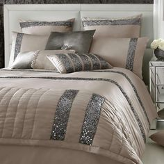 Kylie Minogue Bedding - Safia Truffle Full Bedding Set