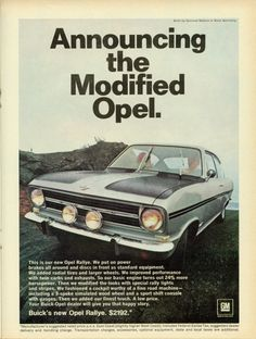 Announcing the Modified Opel