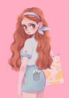 Sweet girl on behance aesthetic drawing, girl cartoon, hair illustration, character illustration, Cute Girl Drawing, Cartoon Girl Drawing, Girl Cartoon, Cute Drawings, Cartoon Hair, Art And Illustration, People Illustration, Girl Illustrations, Character Illustration