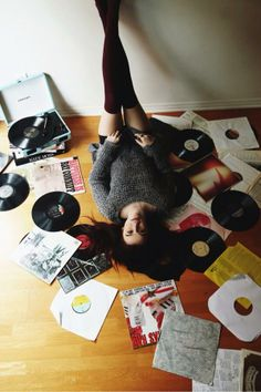 αcαcια вяιηℓєу cℓαяк  Love the pose/idea of records or books or magazines