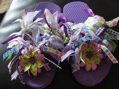 Flip flops + ribbons = Fun Flip Flops!