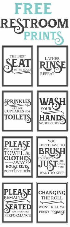 6b8e4b419f4b3 Free Vintage Bathroom Printables
