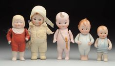 Lot # : 238 - Lot Of 5: All-Bisque Dolls.