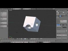 How to cut holes in objects tutorial - YouTube Blender newbie instructions