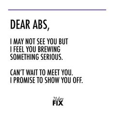 Just because you can't see them doesn't mean they're not there! Remember, there are so many benefits to having a strong core. Just know your abs love you no matter what stage you are at. // 21 Day Fix // // fitness // fitspo // workout // motivation // exercise // Inspiration // quote // quotes // fitfam //fixfam // fit // abs