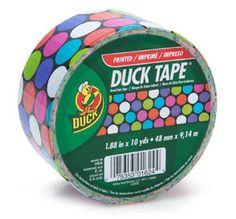 Colored Duct Tape | Colored-duct-tape-Multi-color-Polka-Dot-Ducktape-Duck-Brand-duct-tape ...