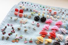 This organization/storage method for stud earrings is as simple as it gets - all you need is a piece of fabric!