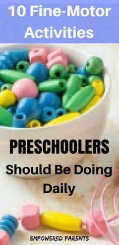 fine-motor activities for preschoolers