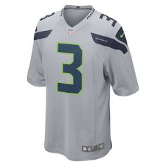 83a57d238 NFL Seattle Seahawks (Russell Wilson) Men s American Football Alternate Game  Jersey - Grey