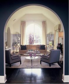 navy, purple lilac & cream living room. ruthie sommers