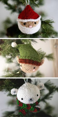 Free Knitting Patterns of Colorful Christmas Balls - 1001 Patterns - Quick, Easy, Cheap and Free DIY Crafts Beginner Knitting Patterns, Knitting For Beginners, Free Knitting, Knitting Projects, Free Christmas Knitting Patterns, Fair Isle Knitting, Knitted Christmas Decorations, Christmas Baubles, Christmas Crafts