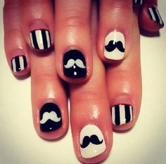 I adore these mustache #nails