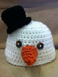 adorable snowman baby  hat :)