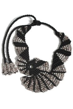Night Flight macrame necklace