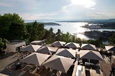 Ute etter sol, gode drinker og deilig mat? Sjekk ut disse perlene. Oslo, Norway, Places Ive Been, Opera House, Building, Travel, Spaces, Voyage, Buildings