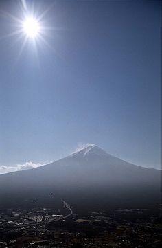 Awesome Shot of Sun on Mount Fuji Japan