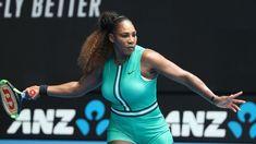 Serena Williams Played Tennis in a Turquoise Leotard and Fishnet Tights Rafael Nadal, Maria Sharapova, Roger Federer, Osaka, Serena Williams Australian Open, Tennis Techniques, Tennis Rules, Fishnet Tights, Play Tennis