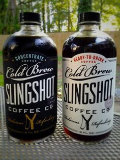 packaging, inspiration, cold brew slingshot coffee