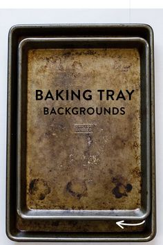 Using baking trays as a background in your food photography styling props. Take a look at the amazing photos created using this tray!