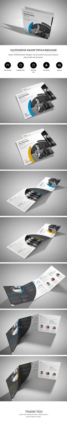 Square #Trifold - #Corporate #Brochures