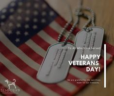 Happy VeteransDay - Happy Veterans Day We are grateful to all who have served and sacrificed for our freedoms including family members veteransday nationalveteransandmilitaryfamiliesmonth veteranshelpingveterans Veterans Day, Dog Tag Necklace, Grateful, Freedom, Happy, Pictures, Liberty, Photos, Political Freedom