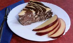 Fitness tvarohový zebra dortík - chutná jako pribináček Y Recipe, Breakfast Recipes, Dessert Recipes, Healthy Style, Healthy Sweets, Stevia, Food Dishes, Ham, Deserts