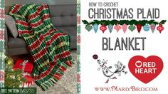 How to Crochet Christmas Plaid Afghan - YouTube