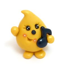 Music Note Parker Figurine - Polymer Clay Character by KatersAcres on Etsy