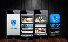 Vreeze   iOS social network design  Created using Photoshop CC and Illustrator CC   By Stracci7