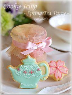 えセレブ日記 アイシングクッキー(春のティーパーティー♪)