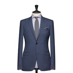 Tailored 2-Piece Suit – Fabric 4606 Plain Blue Cloth weight: 230g Composition: 100% Wool Super 130's