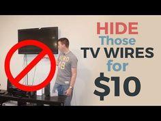How to Hide Hanging TV Ugly Wires—TV Mount Hacks #lowe'shomeimprovementlocations,