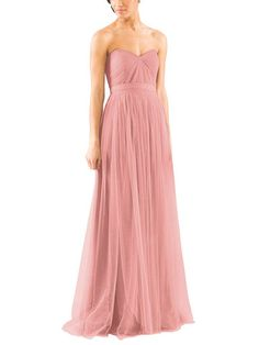 Take a look at this gorgeous Jenny Yoo Annabelle Convertible bridesmaid dress in soft pink fabric! Available in sizes and tons of colors at Brideside. Shop online, try at home or visit one of our showrooms! Ombre Bridesmaid Dresses, Blue Bridesmaids, Wedding Dresses, Prom Gowns, Party Dresses, A Thousand Years, Maxi Skirt Tutorial, Party Fashion, Strapless Dress Formal