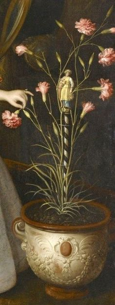 .:. Jan Albertsz. Rotius (1615 1666 or 1674) Portrait of a Young Girl with Carnations, 1663 .Detail.