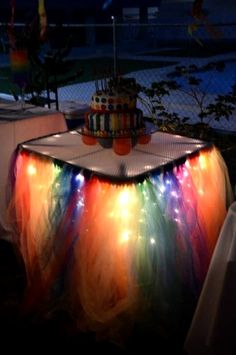 So do you plan to dine outdoor? Place some lights under your table making the place really inviting