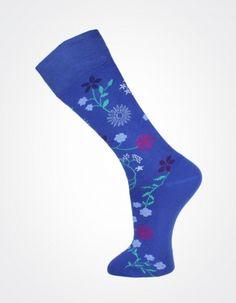 Effio X Effio Bloom of Life - Bloom No.703 #Men #Fashion #Socks #Flower #Blue