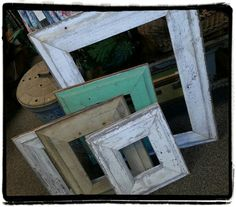 Like us on Facebook  https://www.facebook.com/RecycledRelicsAndAntiqueChic?ref=hl  An assorted selection of frames made from antique barnwood!!