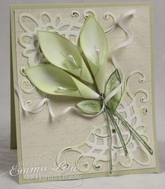 Beautiful Calla Lily Card...instructions included.