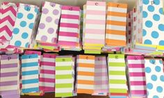 Stripes are in stock ready for you to stock up... and if we don't have it we can get it, fast! the original donovandesigns skinny notepads www.smallfrypress.net