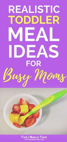 Ideas for busy moms easy toddler meals, quick fast lunch dinner for one yea Healthy Toddler Meals, Toddler Lunches, Healthy Meals For Two, Meals For One, Kids Meals, Toddler Food, Toddler Nutrition, Baby Meals, Healthy Kids