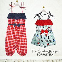 Childrens sewing pattern PDF Girls pattern by MyChildhoodTreasures, $7.50